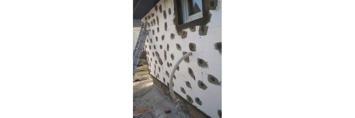 Засипка стін перлітом